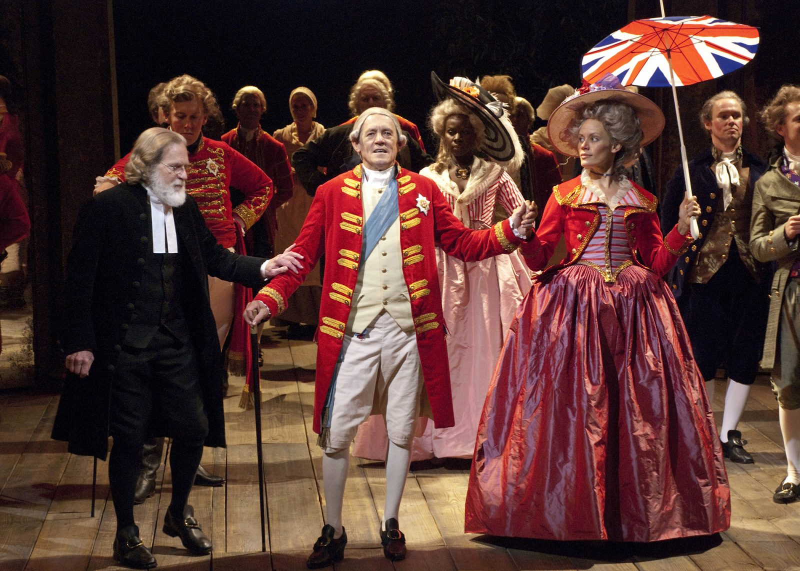Miles Anderson (center) as King George III ...  sc 1 st  San Diego Uptown News & Summeru0027s best production not a Bard but a George - San Diego Uptown News