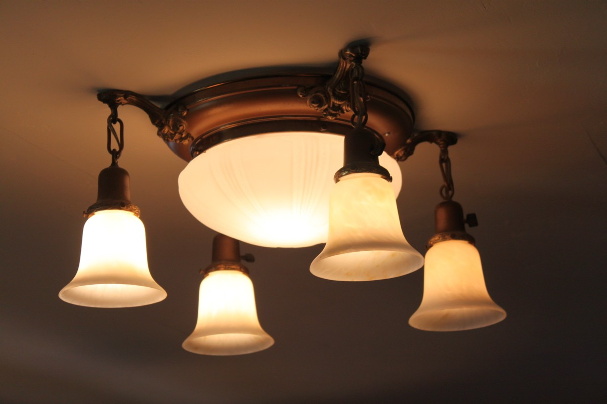 House calls shedding light on antique fixtures san for Household lighting design