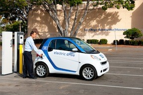 A Car2go Vehicle Which Will Launch In Uptown Nov 18 Can Be Recharged At Stations Across San Go Photo Courtesy