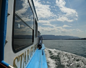 A boat ride on Lake Geneva (Photo by Ron Stern)