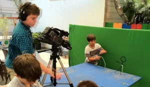 Campers learning stop-motion filmmaking (Courtesy Media Arts Center)