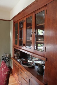 China cabinet restoration by Craftsman Wood Refinishing; plaster repair by Mr. Stuccoman (Photo by Michael Good)