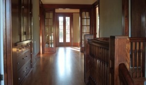Upstairs hall of the Josh DelValle house: doors, windows and millwork by San Diego Sash (Photo by Michael Good)