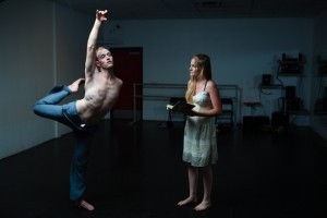 """The Warriors' Duet"" cast in rehearsal (Photo by Rich Soublet)"