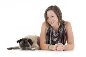 Lisa Weir and her pug Beasley (Photo by My Dog Photography)