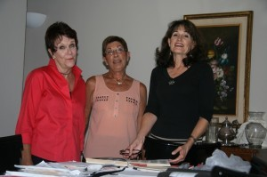 (l to r) Davene Gibson, Gayle Shepley and Margo Kasch (Courtesy Diane Larabee)