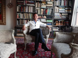 Alexander Salazar at home (Photo by Morgan M. Hurley)