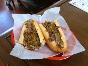 """The works"" cheese steak (Photo by Frank Sabatini Jr.)"