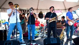 San Diego ska band Unsteady at last year's SONO Fest and Chili Cook-Off. They play again this year at 3:30 on the North Park Stage. (Photo by Arlene Ibarra)