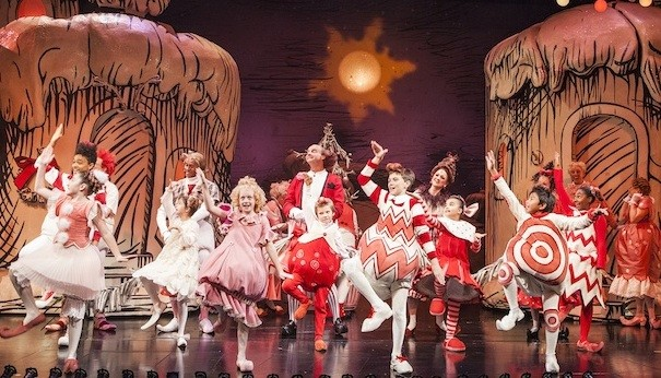 the cast of the 2013 production of dr seuss how the grinch stole christmas at the old globe photo by jim cox - How The Grinch Stole Christmas Cast