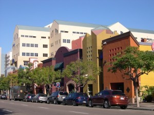 The Vibra Hospital and the Village Hillcrest Shopping Complex on Fifth Ave. (Photo by Sharon Gehl)