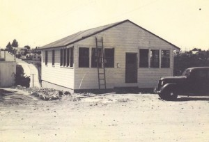 The historic home of Tom Prokop and Barbara Aste was built from dismantled building parts from the nearby Camp Callan after it was decommissioned in 1945. (Courtesy Tom Prokop)