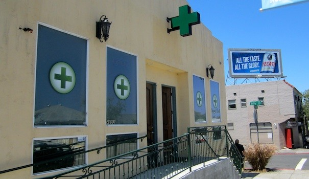 A medical marijuana dispensary on University Avenue in North Park  (Photo by McKenna Aiello)