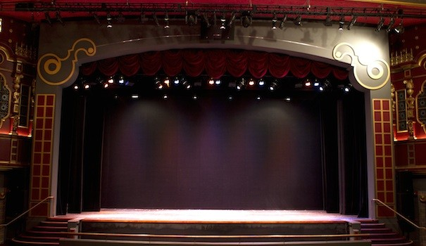 The iconic stage in the North Park Theatre (Photo by Marisa Mortati)