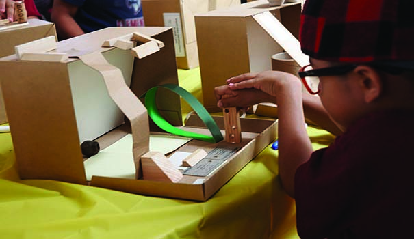 Children create art out of recycled and reclaimed material at Art FORM San Diego in Normal Heights. (Courtesy Art FORM)