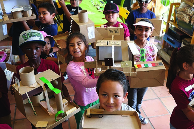 Children proudly display their creations at Art FORM San Diego.  (Courtesy Art FORM)