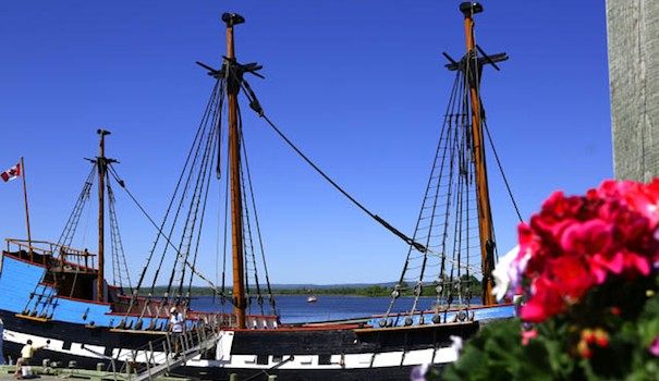 The Hector docked at the Hector Heritage Quay in Pictou, Scotland. (All Photos by Ron Stern)