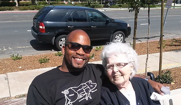 Omar Passons and his adoptive mother, Phyllis (Courtesy Omar Passons)