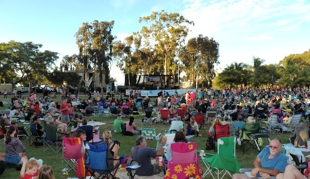 San Diegans enjoy University Heights' Trolley Barn Concert Series on a Friday evening. (Photo by B.J. Coleman)