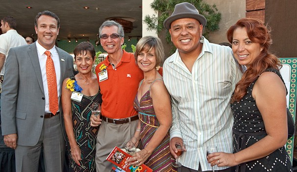 (l to r) Carlo Cecchetto, Diane Nares, Richard Nares, Debra Katz, Xavier Soriano and Alicia Soriano at last year's fundraiser for the Emilio Nares Foundation  (Courtesy Emilio Nares Foundation)