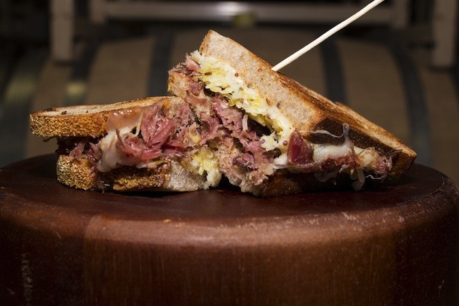 Mastiff's pulled ham-and-cheese sandwich (Courtesy Jacob Bartlett)