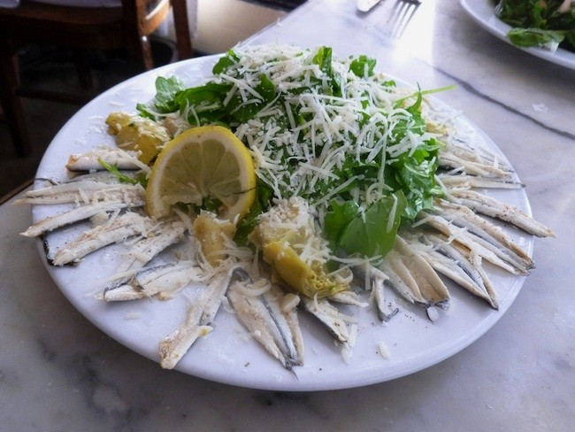 White anchovy salad at Buona Forchetta in South Park (Photo by Frank Sabatini Jr.)