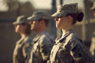 """Kristen Stewart (right) leads the charge as Private Amy Cole in """"Camp X-Ray."""" (Courtesy IFC Films)"""