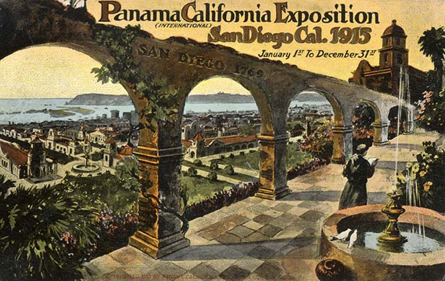 While San Diego highlighted its past at the 1915 exposition, it also sought to promote itself as a land of opportunity. (Courtesy San Diego History Center)