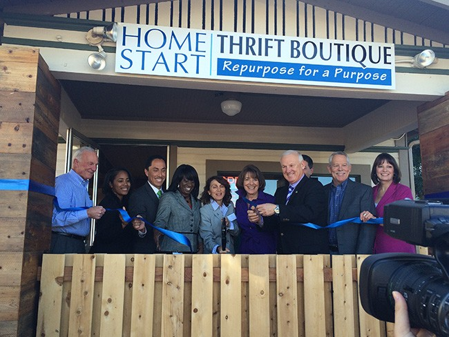 Home Start staff and elected officials at the store's grand opening (Courtesy Home Start)