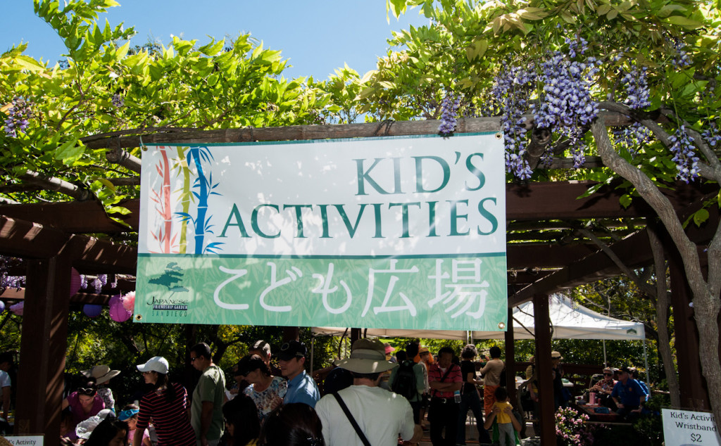 The Cherry Blossom Festival will once again include a children's area. (Courtesy of the Japanese Friendship Garden Society of San Diego)