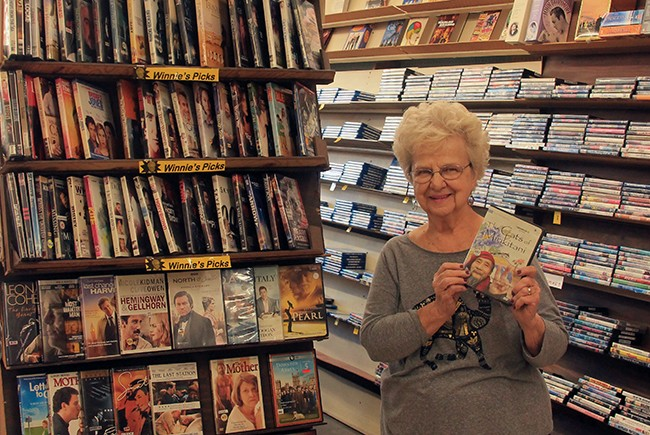 "(above) Winnie Hanford's volumuous recommendation section, ""Winnie's Picks,"" has been a mainstay in Kensington Video for years; (below) Kensington Video was treasured in the community for its vast collection of rare films. (Photos by Hutton Marshall)"
