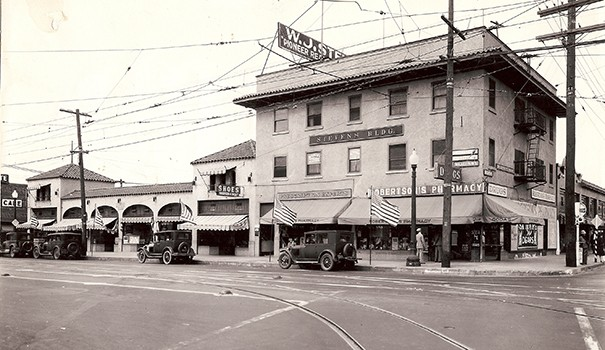 Stevens Building and Annex, 1928 (Courtesy of the Hartley Family)