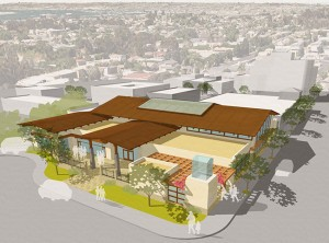 Conceptual renderings of the Mission Hills-Hillcrest Library (Courtesy Architects Mosher Drew)