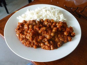 Chickpea curry (photo by Frank Sabatini Jr.)