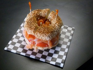 Bagel with salmonweb