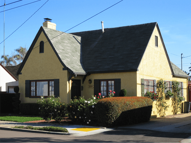 Pear Pearson built this house at 3351 Thorn St. in North Park in 1926. (Courtesy of Katherine Hon)