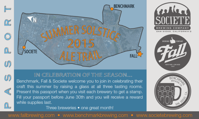 Three local craft breweries have created a Summer Solstice Ale Trail, lasting till the end of June. (Courtesy of Summer Solstice Ale Trail)