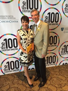 "Mission Hills resident Richard Nares and his wife Diane attended ""the one hundred"" event in Boston. (Courtesy of Emilio Nares Foundation)"