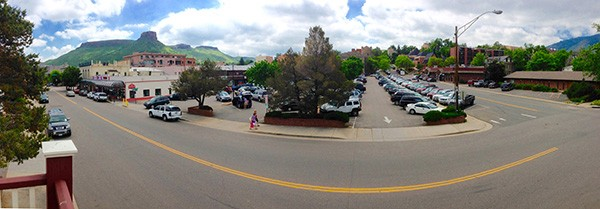 Panorama of Golden from the balcony of the Astor House (Photo by Ron Stern)