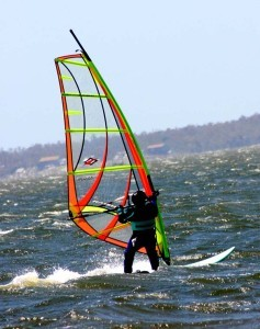 Windsurfing is a popular water activity in North Carolina (Photo by Ron Stern)
