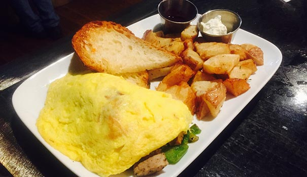 Asiago and fennel sausage omelet (Photo by Frank Sabatini Jr.)