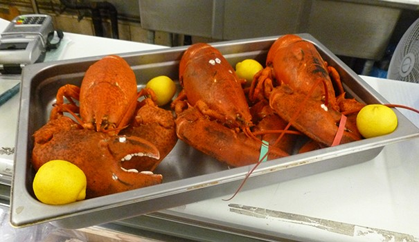 Whole lobsters from the deli case (Photo by Frank Sabatini Jr.)