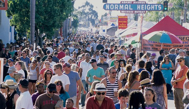 More than 100,000 people are expected to attend the two-day Adams Avenue Street Fair. (Courtesy of Adams Avenue Business Association)