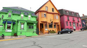 Colorful businesses in Lunenburg (Photo by Ron Stern)