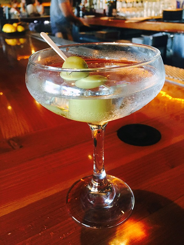 A martini served at Uptown Tavern during happy hour (Photo by Dr. Ink)