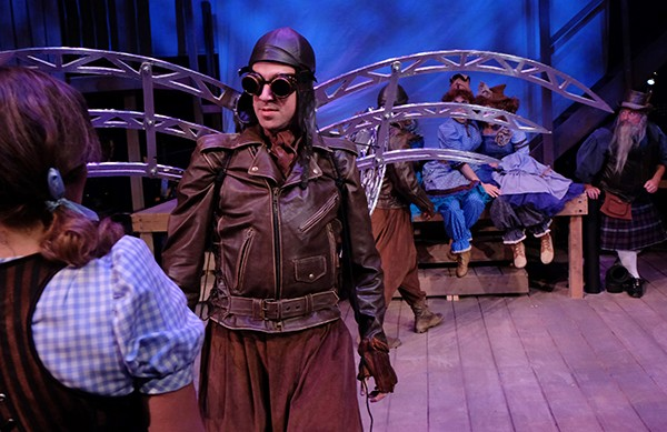 """The cast of """"Oz,"""" playing through Nov. 22 at Lamb's Players Theatre (Photo by Ken Jacques)"""