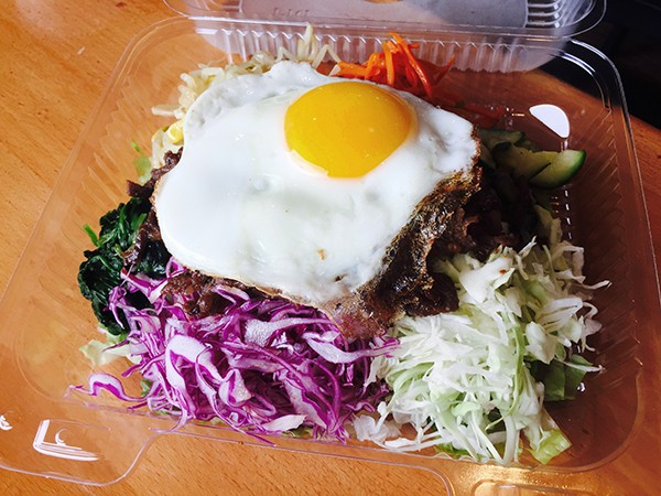 Bibi Go with egg and Korean-style beef from Poke Go in Hillcrest (Photo by Frank Sabatini Jr.)