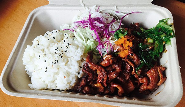 Spicy pork platter (Photo by Frank Sabatini, Jr.)