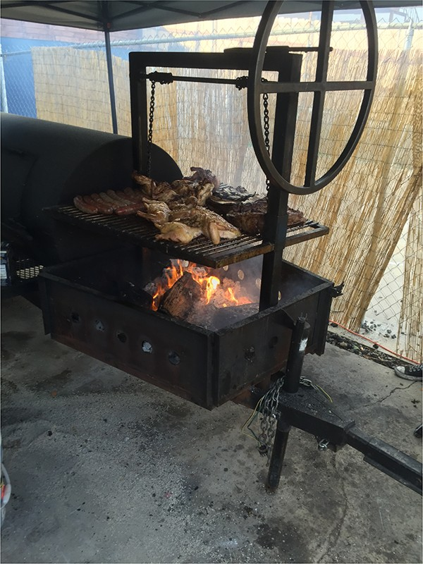 "The flame grill is active on ""Argentine Sundays"" (Photo by Frank Sabatini Jr.)"