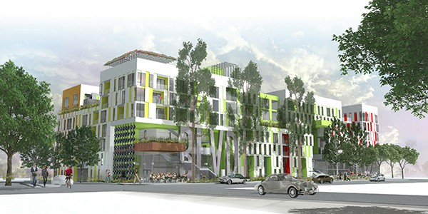 Artist's rendering of H.G. Fenton Company's mixed-use residential development on El Cajon Boulevard between Florida and Alabama street (Courtesy of El Cajon Boulevard Business Improvement Association)